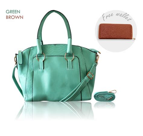 Tas Wanita Model Bag Fashionable Best Quality buy buy bag get free wallet fashion bag and wallet 3 colors quality bag