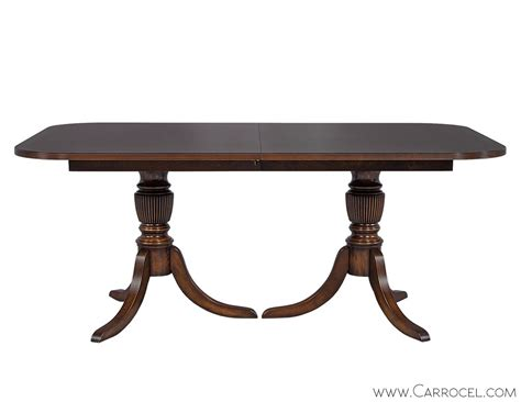 Duncan Phyfe Dining Tables Custom Flamed Mahogany Dining Table With Duncan Phyfe Style Pedestal