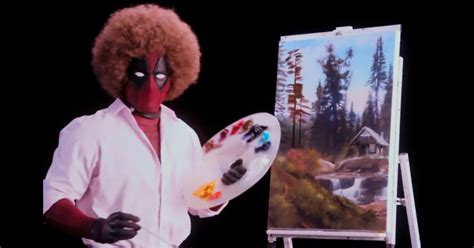 deadpool 2 trailer bob ross new deadpool 2 teaser is a yet hilarious ode to