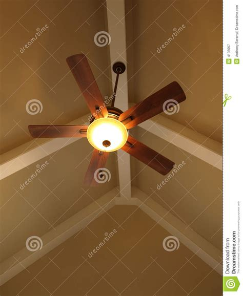 ceiling fans for cathedral ceilings ceiling fan in vaulted ceiling stock image image of