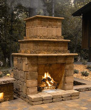cost  build  outdoor fireplace
