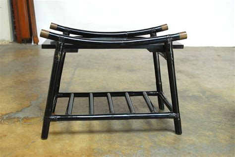 Black Rattan Coffee Table Black Lacquer Rattan Coffee Table And Side Table Attributed To Ficks Reed For Sale At 1stdibs