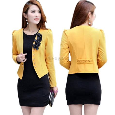 korean women short sleeve blazer fashion korean womens long sleeve slim short ol suit