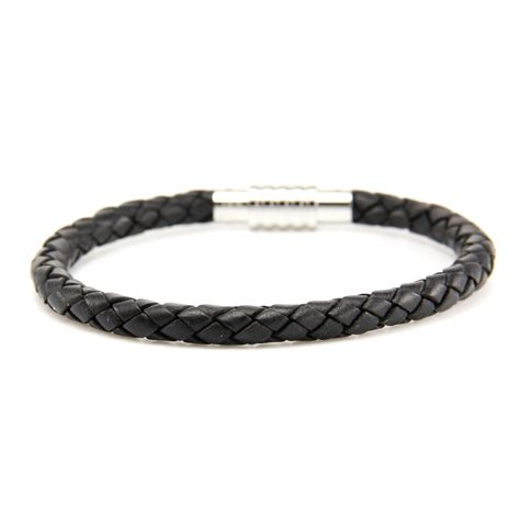 mens bracelets aagaard mens jewelry leather bracelet black 1 landing