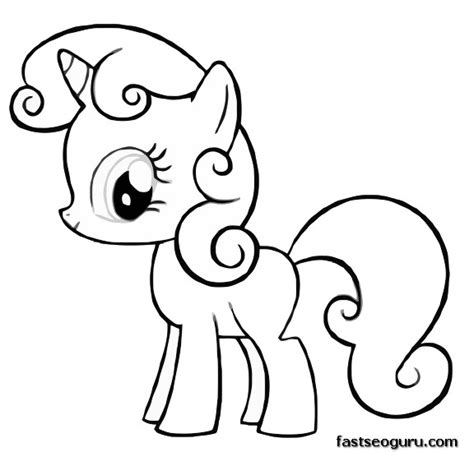 my little pony friendship is magic coloring pages to print free printable my little pony friendship is magic sweetie belle