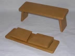large folding beech meditation stool