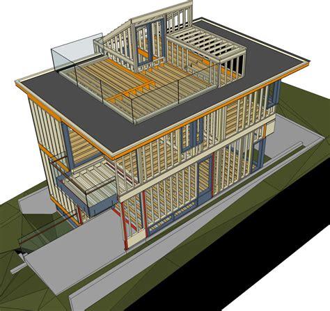 timber frame design using sketchup west 6th virtual construction stick framing studio tm