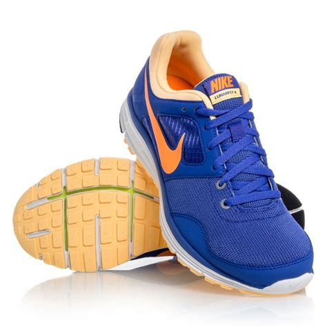 nike lunarfly 4 womens running shoes blue orange