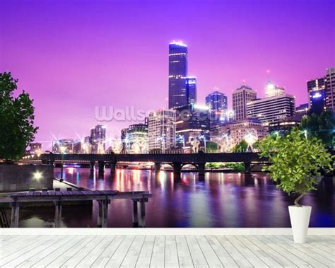 wallpaper for walls melbourne melbourne at night wallpaper wall mural wallsauce