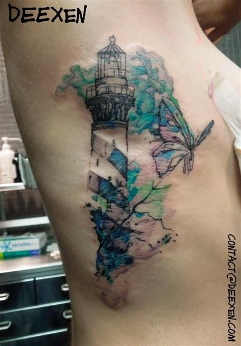 tattoo expression lighthouse expression watercolor deexen
