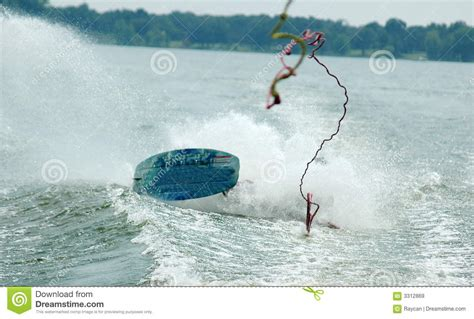 speed boat wipeout wake board wipe out royalty free stock images image 3312869