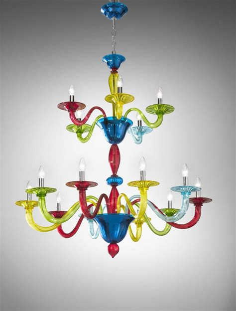 Coloured Chandeliers 12 Collection Of Coloured Glass Chandelier