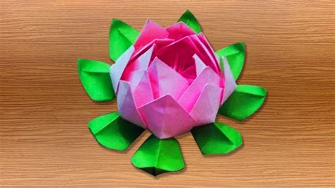 3d Origami Lotus Flower Tutorial - 3d origami lotus flower tutorials how to make an