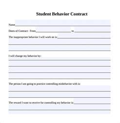 Behavior Plan Template For Elementary Students by Sle Behaviour Contract 14 Free Documents In