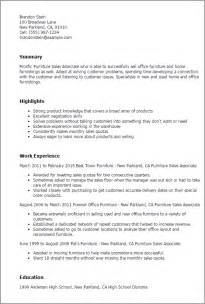 Program Associate Sle Resume by Professional Furniture Sales Associate Templates To Showcase Your Talent Myperfectresume