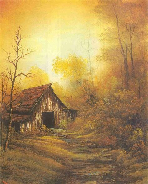bob ross painting barns painting for