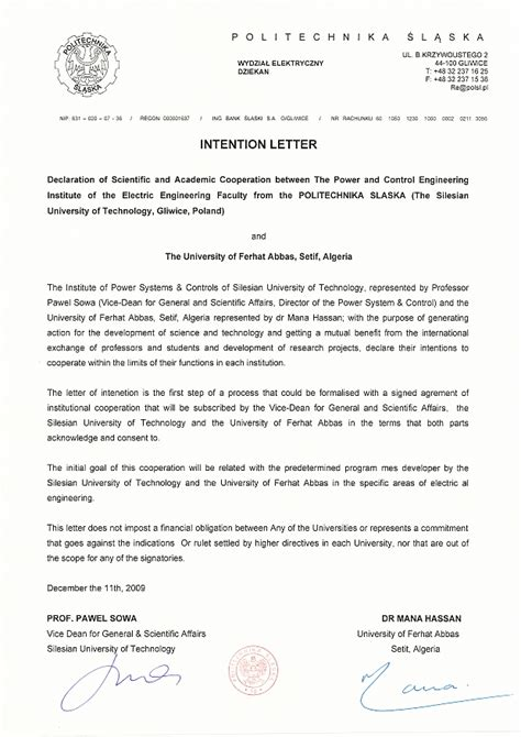Research Cooperation Letter International Cooperation Instytut Elektroenergetyki I Sterowania Uk蛯ad 243 W