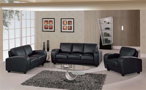 Faux Leather Sectional Sofas Gl Sofa Set Black Leather Match Sofas