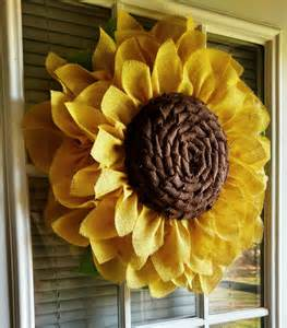 Burlap Sunflower Wreath Sunflower Wreath Burlap