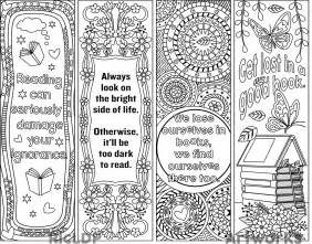 bookmark printing template ricldp artworks printable coloring bookmarks