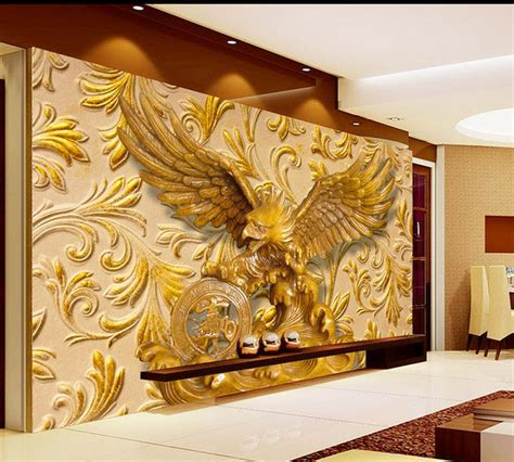 the carving room aliexpress buy 3d nature wallpapers eagle sculpture wood carving living room tv backdrop