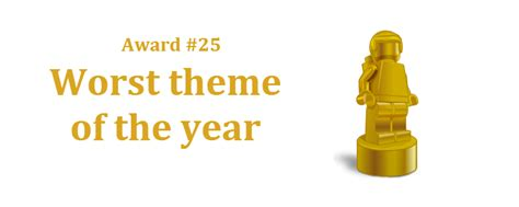 Gets Prize For Worst by Award 25 Worst Theme Of The Year Brick Fanatics