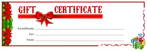 printable gift certificate ms word template office