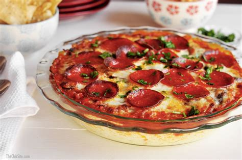 new years recipes new year s pizza dip the chic site
