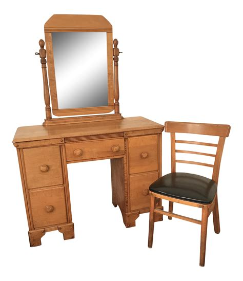 craftsman mirror 1950s craftsman style mirror vanity chair chairish