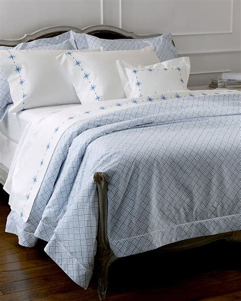 lulu dk for matouk white percale with continuous