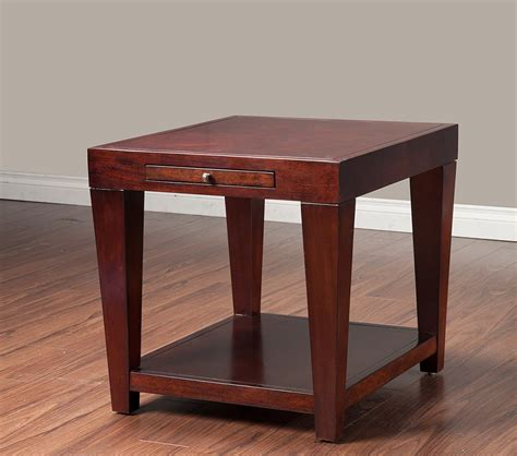 end table with pull out tray dreamfurniture com wilmington end table with shelf and