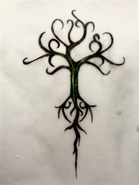 simple viking tattoo yggdrasil design by miladybyron on deviantart
