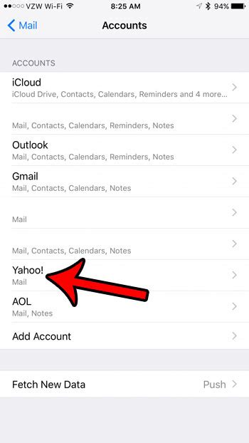yahoo email won t update on ipad how to change an email account password on the iphone 5
