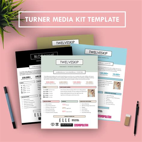 media kit design template turner media kit