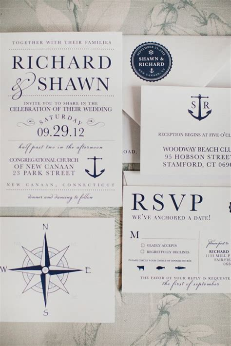 Nautical Connecticut Wedding Nautical Invitations Wedding And Connecticut Anchor Wedding Invitation Templates