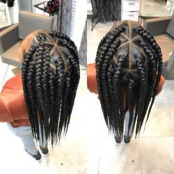 triangle parts hair 25 best ideas about box braid styles on pinterest box