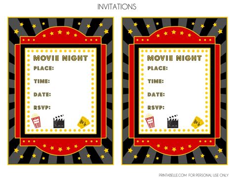 free movie night party printables by printabelle catch