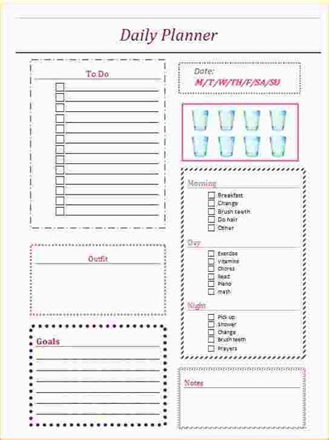 daily planner template tumblr 5 daily organizer planner ganttchart template