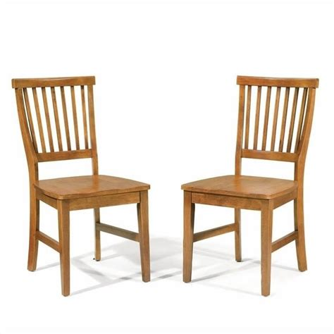 Dining Chair Styles Home Styles Arts Crafts Wood Side Chair Cottage Oak Finish Set Of 2 Ebay