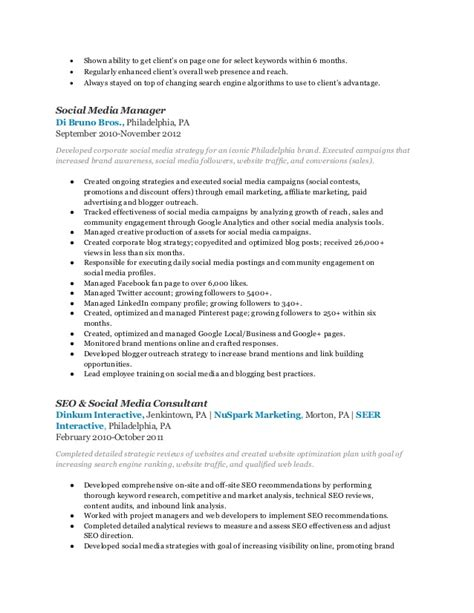 Digital Marketing Manager Resume by Digital Marketing Manager Resume Marilyn