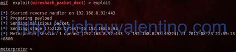 wireshark backtrack tutorial hacking windows 7 sp1 via wireshark using metasploit