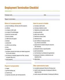 Termination Checklist Template by 32 Checklist Templates In Pdf Free Premium Templates