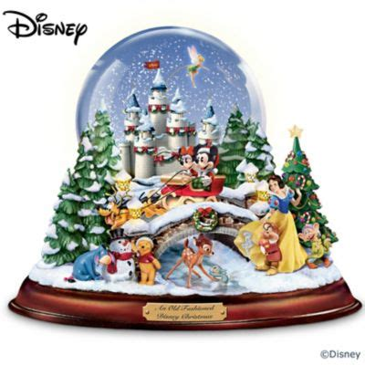 an old fashioned disney christmas musical snowglobe