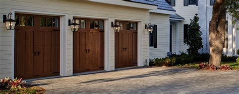 Wood Looking Garage Doors Composite Garage Doors Deluxe Door Systems Columbus