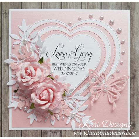 Big Handmade Cards - handmade wedding card