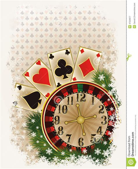 merry christmas casino invitation card stock image image