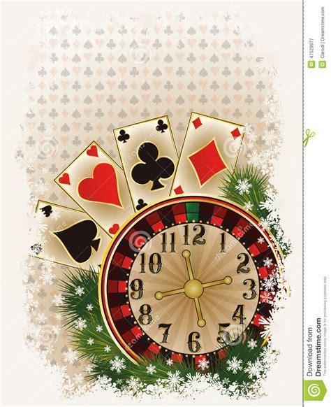 merry christmas casino invitation card stock image image