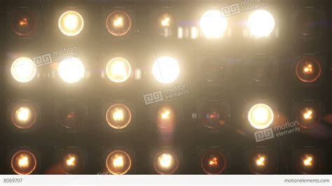 Flashing Lights Bulb Wall Of Lights Vj Stage Stock Blinking Lights