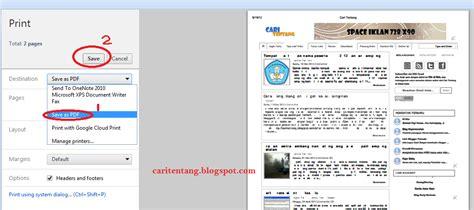 Format File Halaman Web Adalah Cara Menilkan Format   cara menyimpan halaman website ke pdf tanpa software