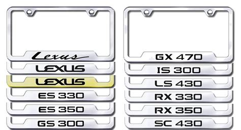 lexus license plate frame lexus engraved license plate frames lexus
